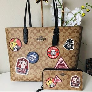 COACH STAR WARS PATCHES TOTE & WALLET SET NWT